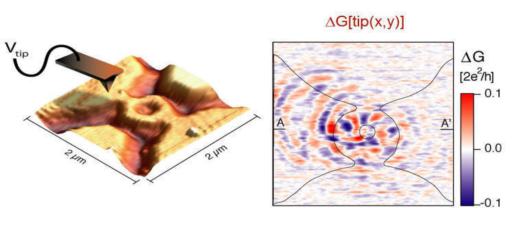 SCANNING GATE MICROSCOPY OF A GaInAs QUANTUM RING. 